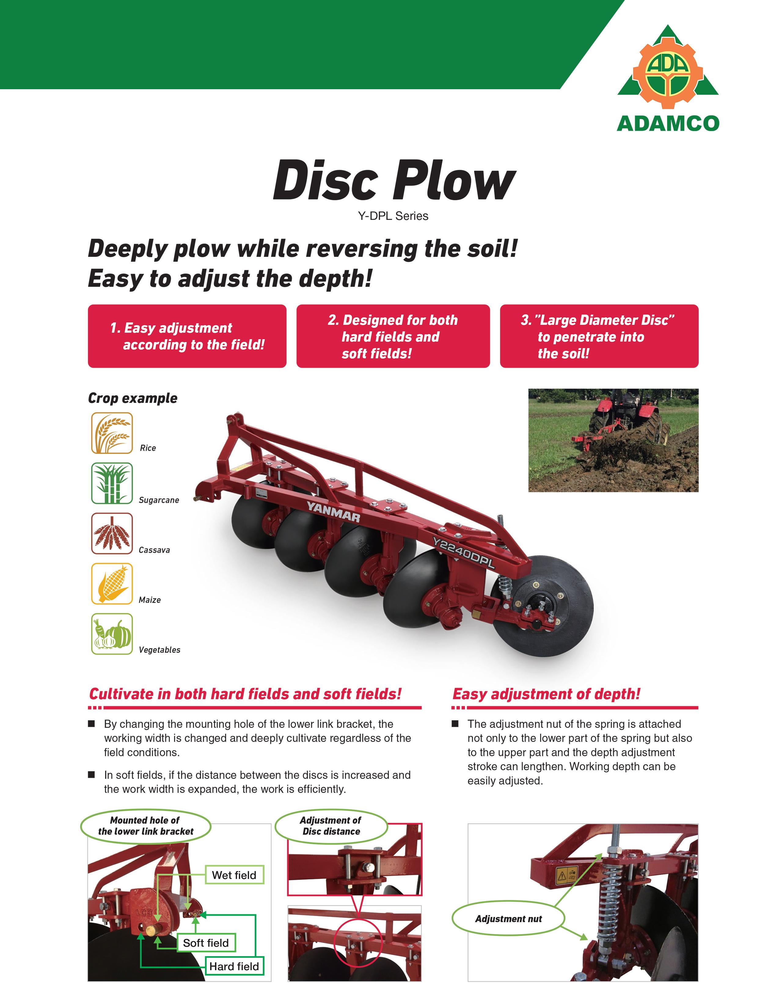 Disc Plow Y DPL Series